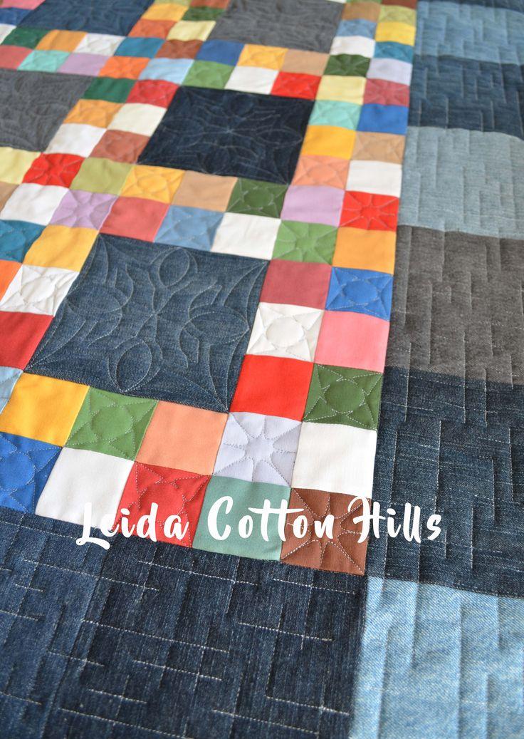 Leida Cotton Hills. Acolchados de patchwork con máquina de brazo largo