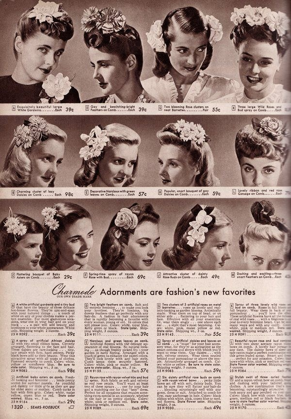 1940's Hair Adornment article