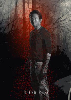glenn twd the walking dead thewalkingdead zombie blood amc tv serie