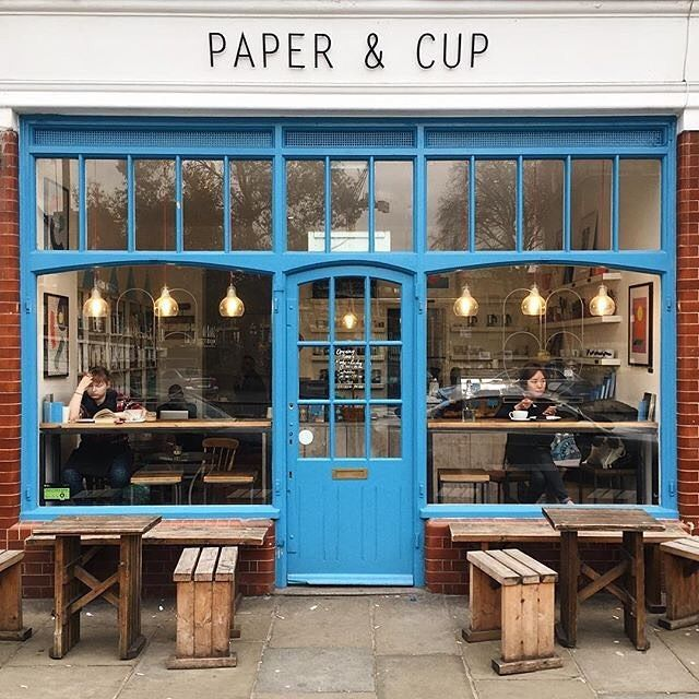 Paper & Cup a cute cafe in Shoreditch . Photo by @richardleemassey by londoncoffeeshops