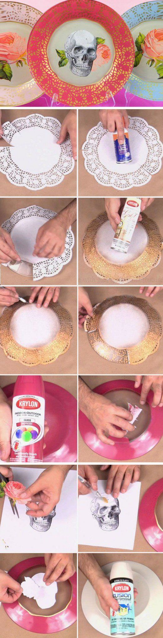 Edgy Boho Plates   DIY Dollar Store Crafts for Teens