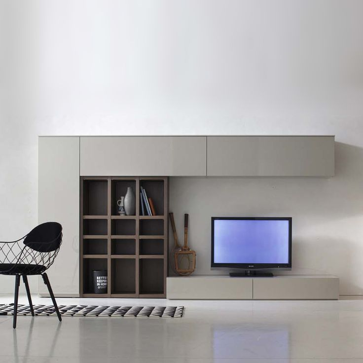 Tv unit in modern design by Santa Lucia L 324.8 - H 171.6 - D 38.6/49. at My Italian Living Ltd