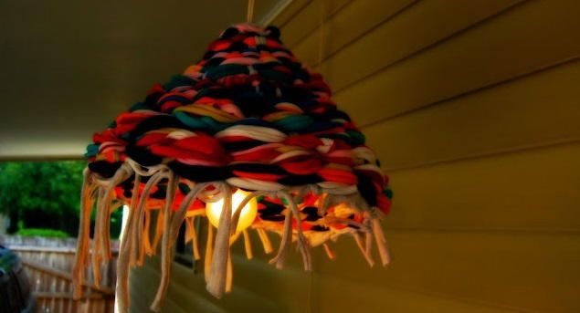 Scrappy Homemade Lamp Shade | AllFreeSewing.com