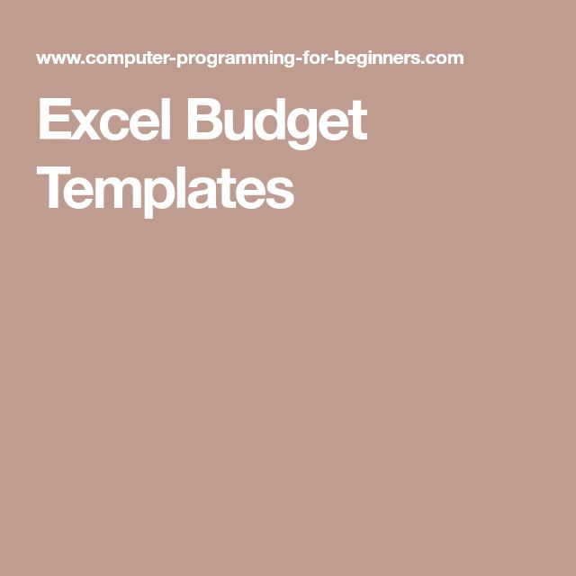 The 25+ best Excel budget ideas on Pinterest Budget spreadsheet - excel budget template