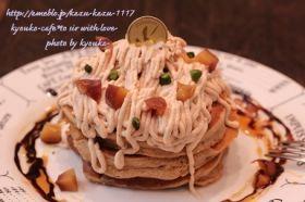 「ふわふわ☆スフレのモンブラン・パンケーキ」きょうこcafe | お菓子・パンのレシピや作り方【corecle*コレクル】