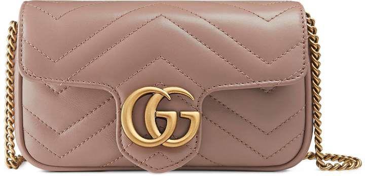 06f7a01a089 GG Marmont matelassé leather super mini bag