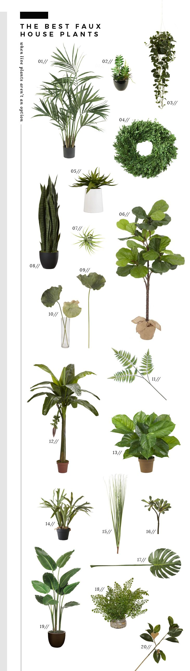 The Best Realistic Faux Plants - Room for Tuesday
