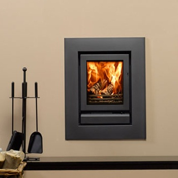 Fireplace Products Presents - The Riva 40 Multifuel Cassette. Riva Cassettes are available in 4 different sizes, and two different colours. There are also 24 different frame options to suit each stove. This image shows a Riva 40 Multifuel Cassette with a 4sided wide frame all in midnight black finish. Most Riva cassettes are also DEFRA approved for use in smoke control zones. Available for sale from Fireplace Products, don't forget to mention you found us on Pintrest to receive an extra…