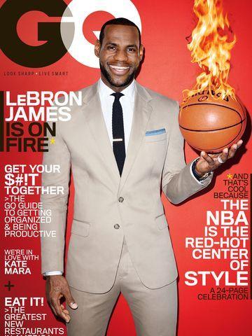 LeBron James celebrates his upcoming GQ Magazine cover.