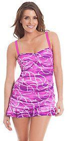 Liz Claiborne New York Nautical Stripe Swim Dress