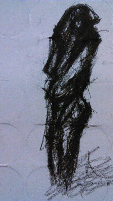 My women in progress Charcoal on paper