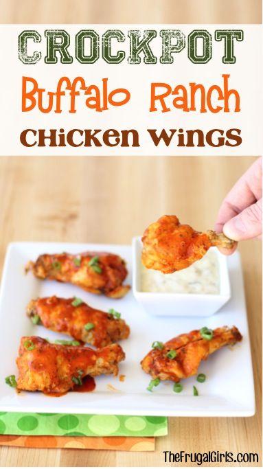 Crockpot+Buffalo+Ranch+Chicken+Wings+Recipe!