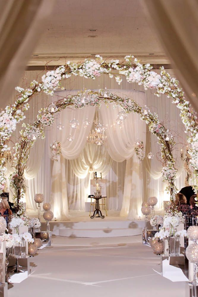 White Wedding Decoration Ideas ❤ See more: http://www.weddingforward.com/white-wedding-decoration-ideas/ #wedding #bride #weddinggowns #weddingideas
