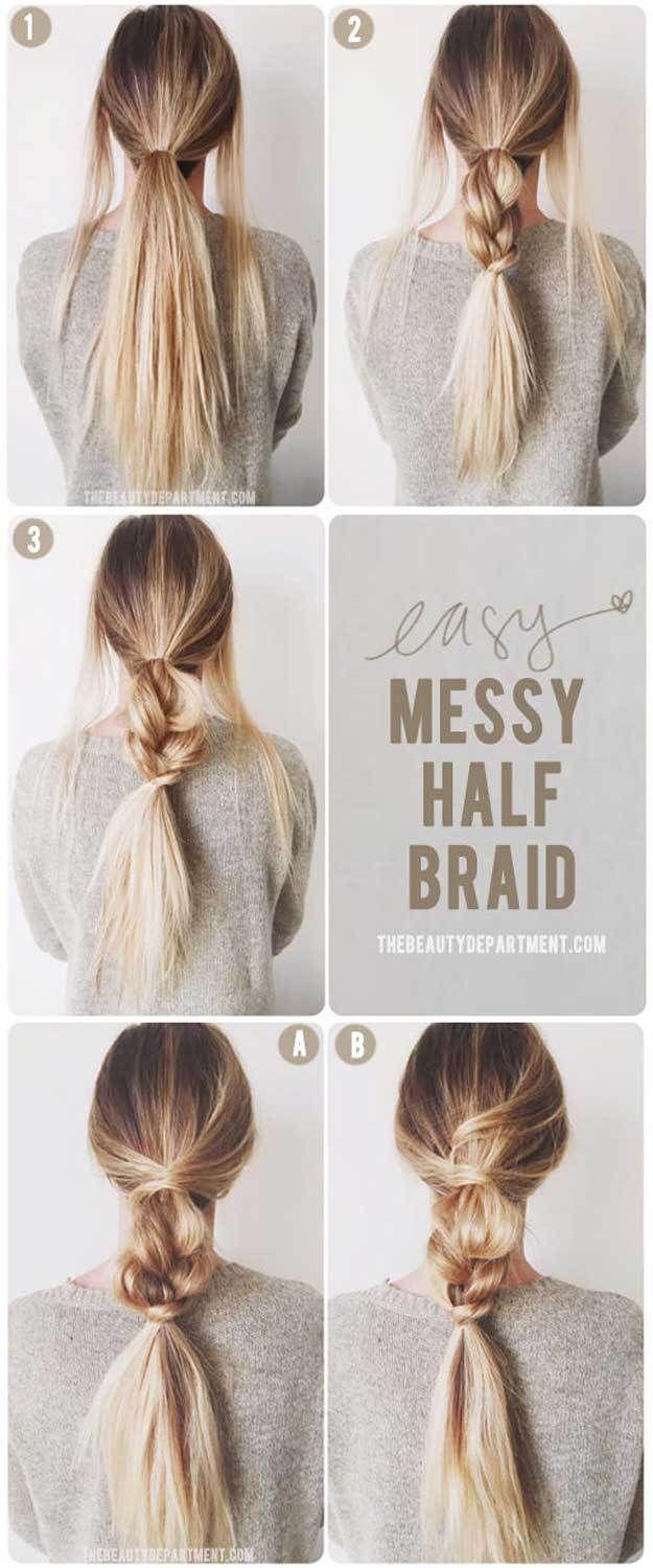 5 Minute Hairstyles For Long Hair Hair Hair Styles Hair Long