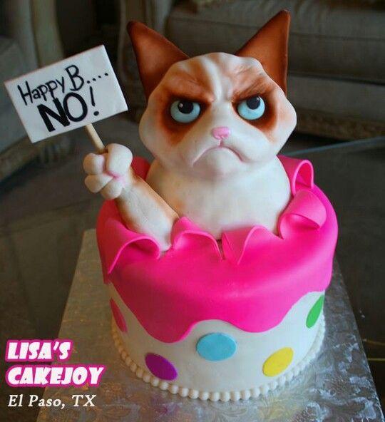 Grumpy Cat Cake! Lisa's CakeJoy El Paso, TX