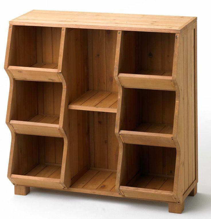 Cubby Storage Unit Shelf Organizer Furniture Wood Toy Bin Closet Garden Rustic