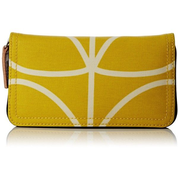 Orla Kiely Giant Linear Stem Big Zip Wallet ($94) ❤ liked on Polyvore featuring bags, wallets, zip wallet, pattern bag, pattern wallet, orla kiely and orla kiely wallet