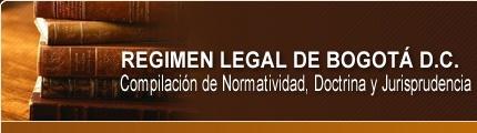 Régimen Legal de Bogotá, D.C.