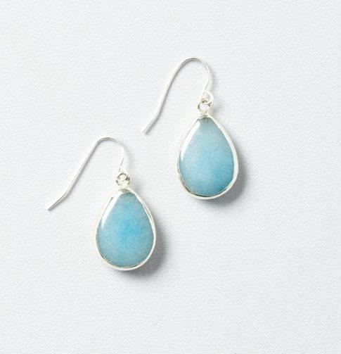 Blue Stone Teardrop Earrings - LOFT ($24.50)