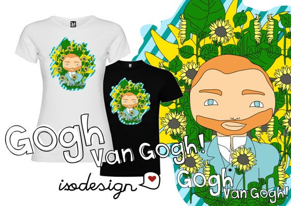 Van Gogh is here illustration pre-order by isodesignbyiso on Etsy