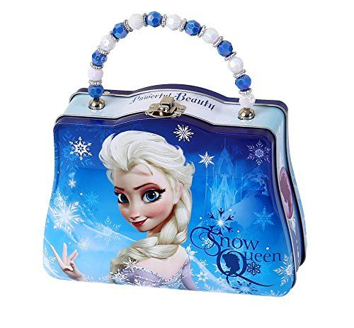 Dress-Up Toy Purses - Disney Frozen Scoop Carry All Tin Classic Purse with Beaded Handle Elsa >>> You can find out more details at the link of the image.