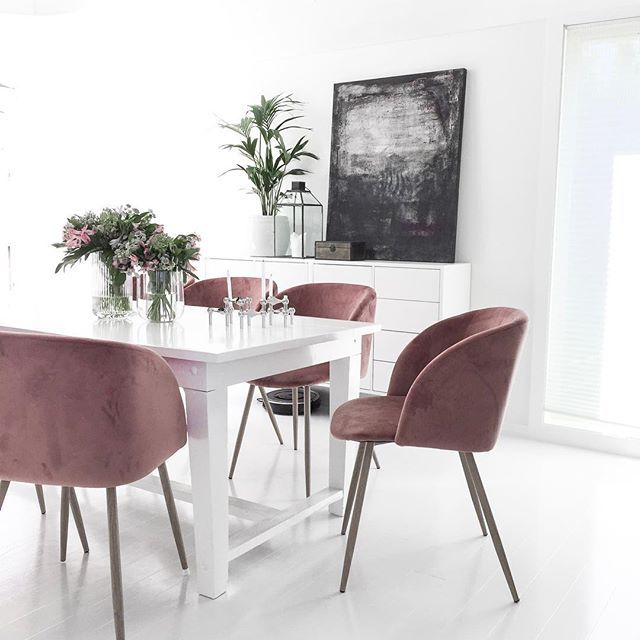 Januar Pink Dining Chairs Dining Room Inspiration Home Decor