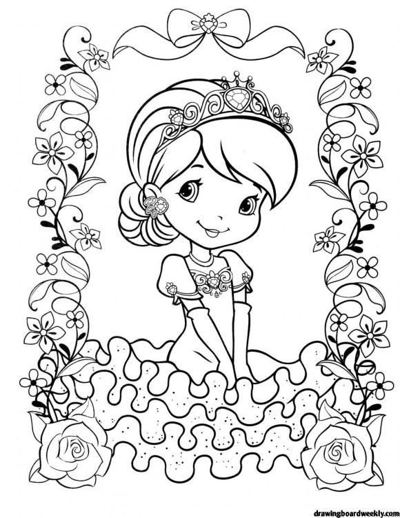 Strawberry Shortcake Coloring Pages Birthday Coloring Pages Cartoon Coloring Pages Coloring Pages
