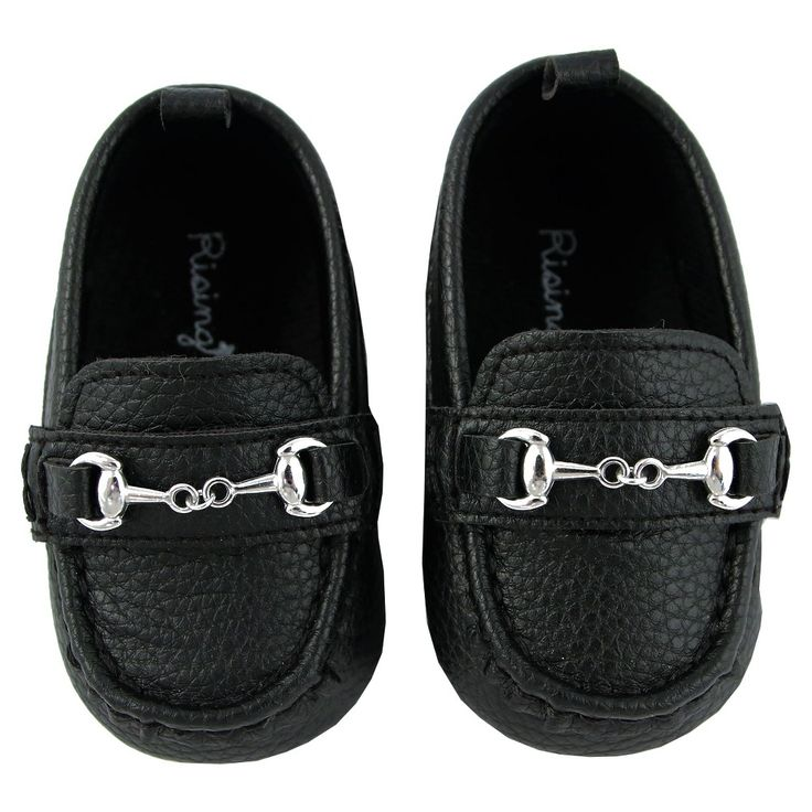 Baby Boys' Rising Star Dress Shoes with Hardware - Black 9-12M, Size: 9-12 M