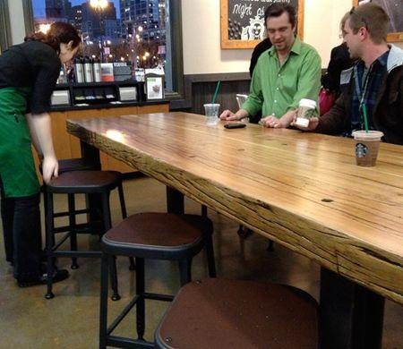 best table wood slabs  on Pinterest
