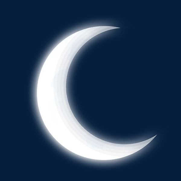 White Moon In The Night Moon Clipart White Vector Moon