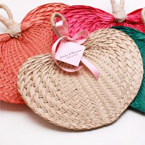 Mini Palm Bamboo Hand Fans - Welcome basket