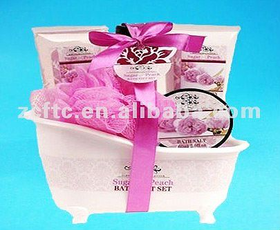 plastic container for bath gift set ,plastic mini bathtub for packaging