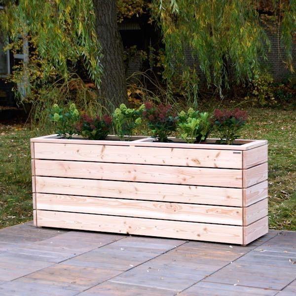 Pflanzkasten / Pflanzkübel Holz, Douglasie Natur