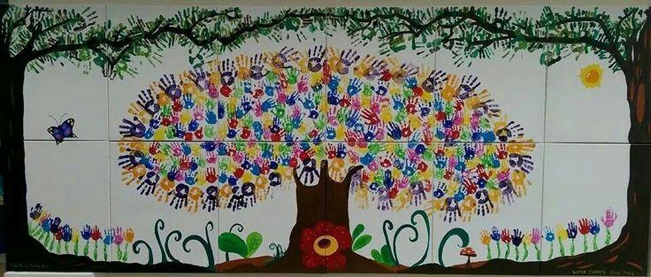 58 best bulletin board hallway images on pinterest for Mural tadika