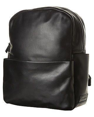 New Status Anxiety People Like Us Backpack Leather Luggage Travel Black