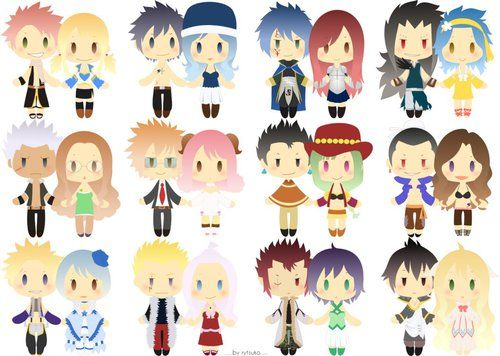 Group of: Fairy Tail Chibi Couples - Rytsuko on DeviantART | We ...