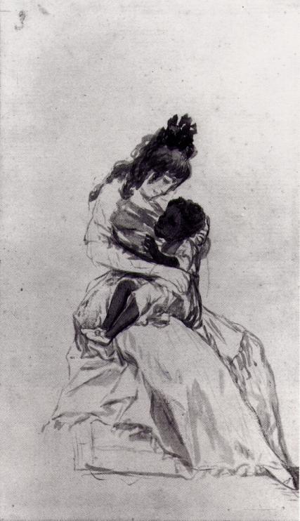Goya- The Duchess of Alba with the Child Maria de la Luz.