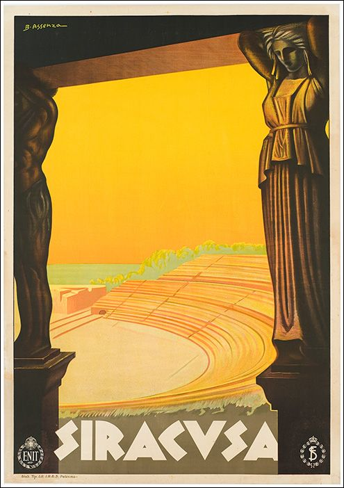 Vintage Travel Poster: Syracuse, Italy 1930