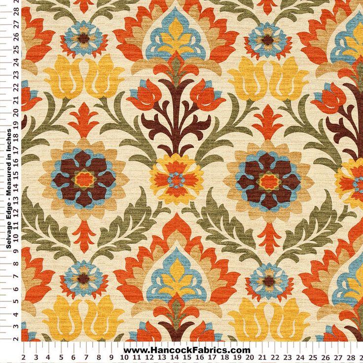 Charming Waverly Santa Maria Orange Home Décor Fabric   Designer Express Photo Gallery