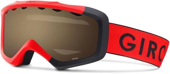 Giro Boy's Grade Snow Goggles Red/Black Zoom Amber Rose