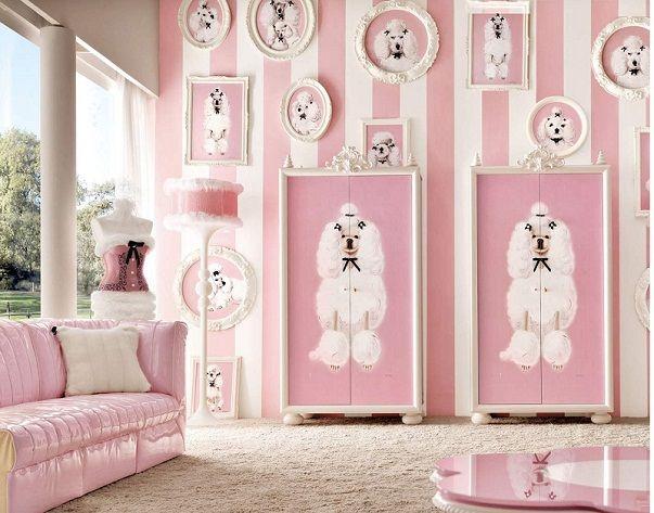 Lolita pink and white for little girls bedroom design