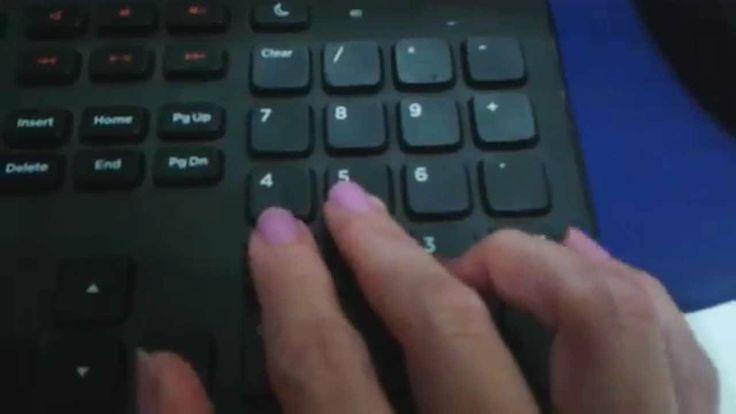 Digitação em teclado numérico aula 12
