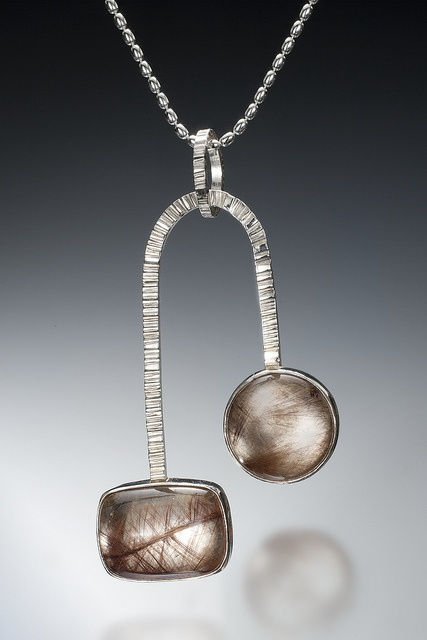 Zen Arches rutilated quartz pendant