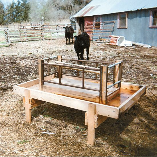 Nebraska rancher came up with a design to build a small square bale feeder out of common lumber lengths. - GRIT Magazine