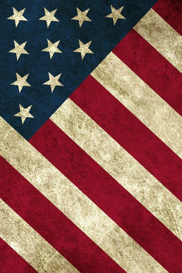美国国旗图案滴手机壁纸