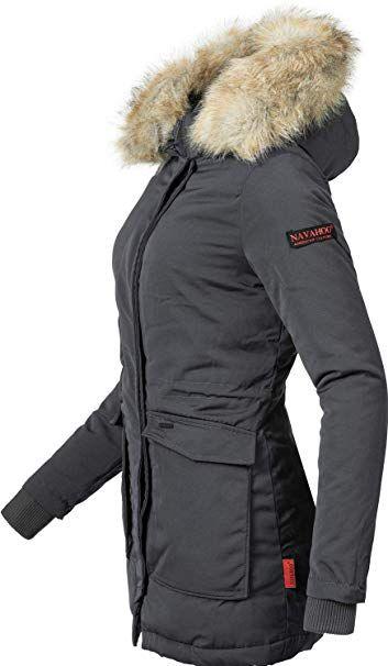 68f3f56afed8c8 Navahoo Damen Winter-Jacke Winter-Mantel Schneeengel (vegan hergestellt) 11  Farben XS