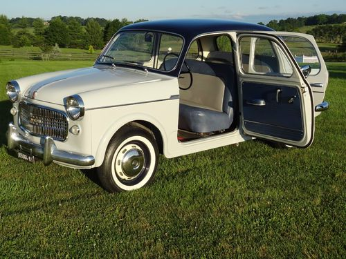 1958 Fiat Millecento Berlina - Front 'suicide doors'?  That's a first on me.