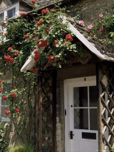 Roses Round the Door, Vineyard Street, Winchcombe, Gloucestershire, England