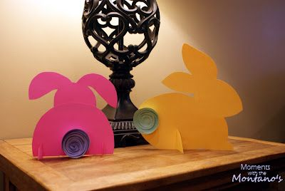 Someone figured it out and made a template - thanks. The kids can color the paper first maybe and make really colorful bunnies.