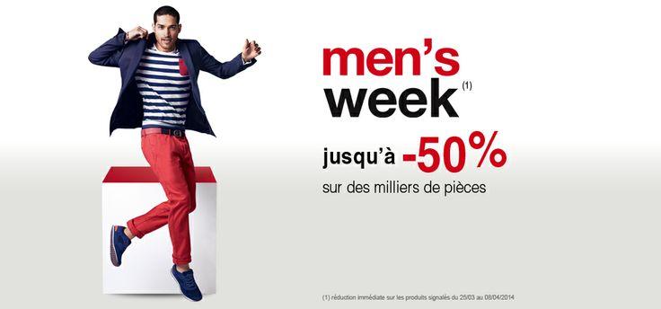 Men's Week chez #Celio ! Jusqu'à -50% de réduction ! >>>http://bit.ly/1jOUuwX